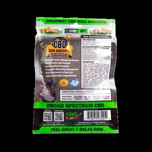 Hemp Bombs CBD Dog Biscuits 8 - Count