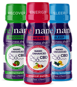 Re-Nano CBD Energy Wellness Shot 2.5oz (75ml) New Clear