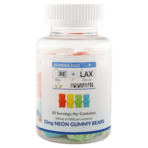RELAX CBD 10mg Neon Gummy Bears