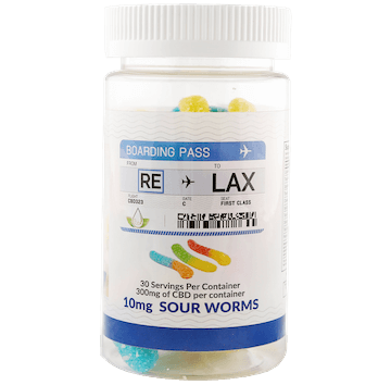 RELAX CBD 10mg Sour Worms