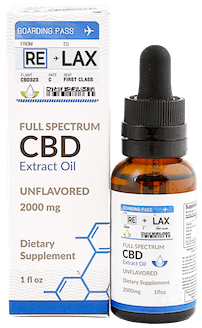 RELAX CBD Oil Tincture - Unflavored 2000mg