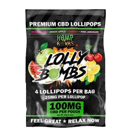 Hemp Bombs CBD 25mg Jolly Bombs - 4 Lollipop in Per Bag