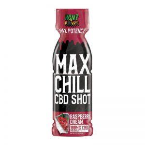 HEMP BOMBS MAX CHILL CBD SHOT RASPBERRY DREAM 2.5oz - 100MG